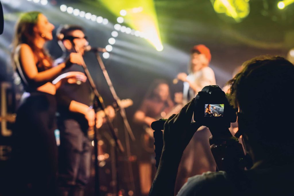 Photographing live performance